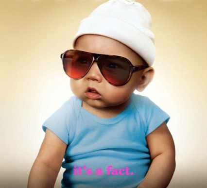 hangover baby in sunglasses