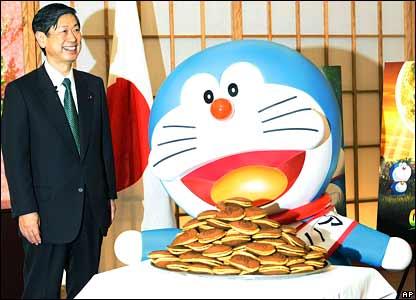 foreign minister komura doraemon pancakes