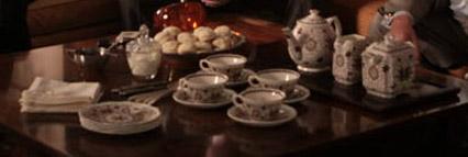 mad men tea set scones