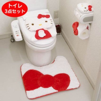 hello kitty toilet set