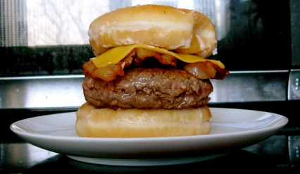 donut bacon cheeseburger gloriousness