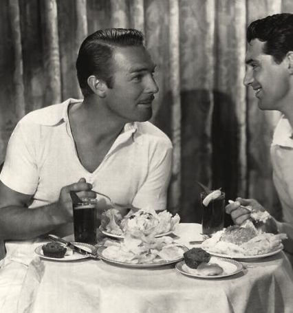cary grant and randolph scott having dinner