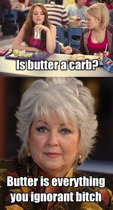 paula deen mean girls regina george is butter a carb