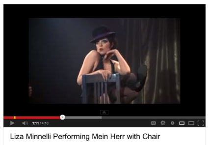 liza minnelli mein herr chair