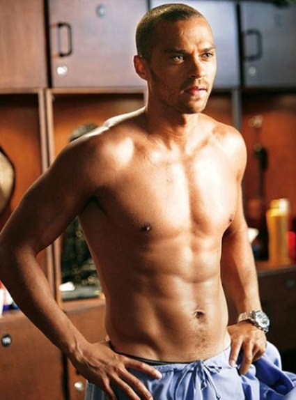 jesse williams shirtless