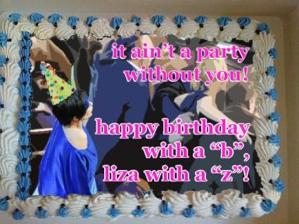 liza minnelli oscars birthday cake
