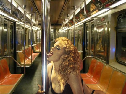 showgirls nyc subway pole