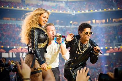 beyonce coldplay bruno mars super bowl
