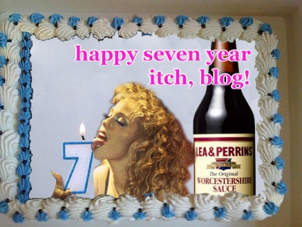 blog birthday cake seven year itch
