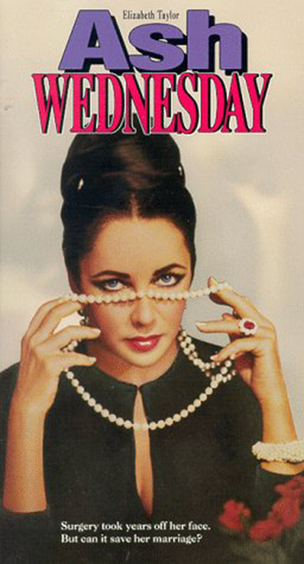 elizabeth taylor ash wednesday vhs art