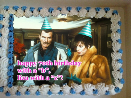 liza minnelli 70th birthday cake rent a cop